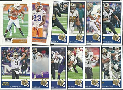 e318ec82493a6 2019 Panini Score Football New Orleans Saints Team Set 12 Cards W/Drafted  Rookies