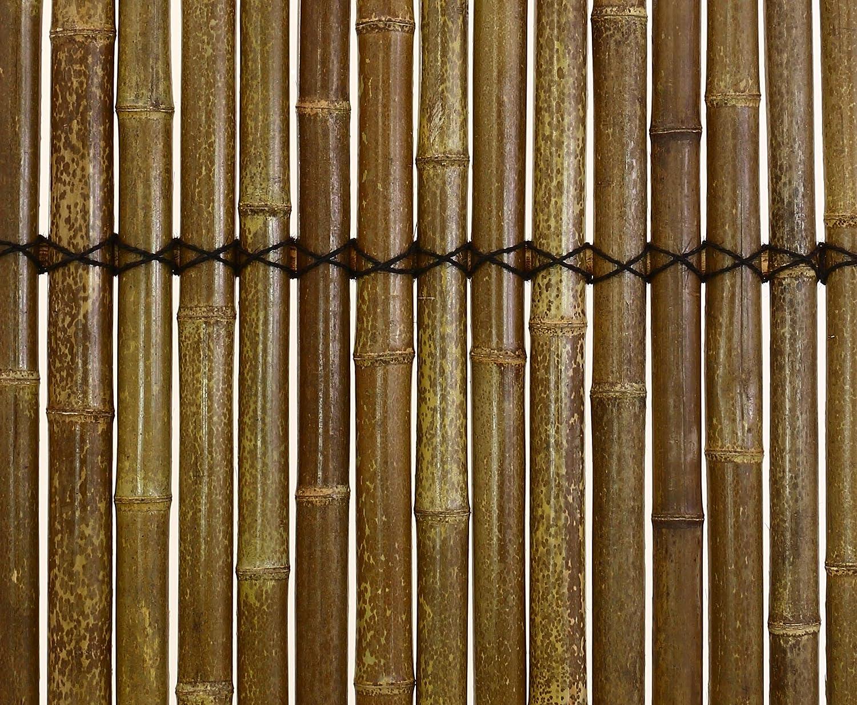 """Bambus Zaun """"Apas 14"""" 180x90cm schwarz braun Halbschalen 5 bis"""