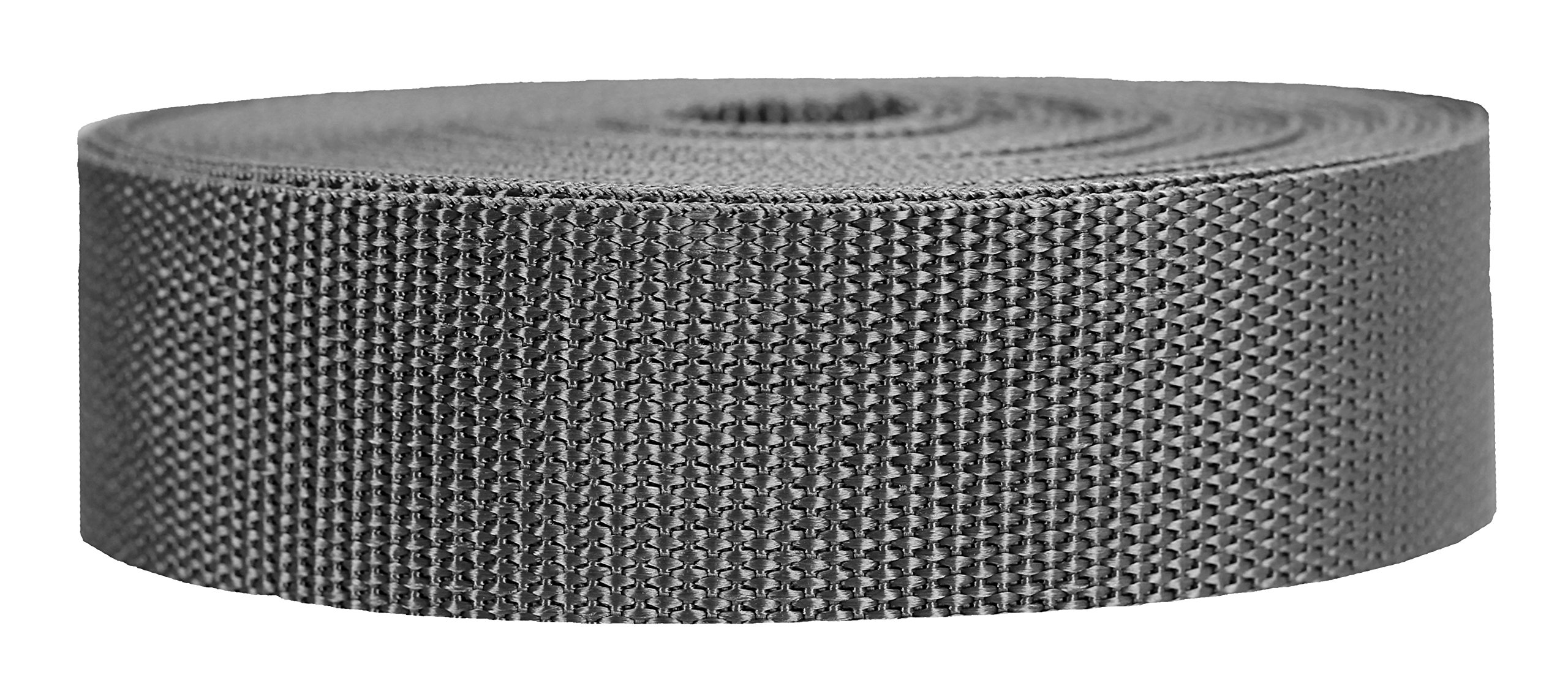 Strapworks Heavyweight Polypropylene Webbing - Heavy Duty Poly Strapping for Outdoor DIY Gear Repair, 1.5 Inch x 10 Yards, Charcoal