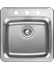 Agua Canada Kitchen Sink Stainless Steel Era 3 Holes 20 Inches