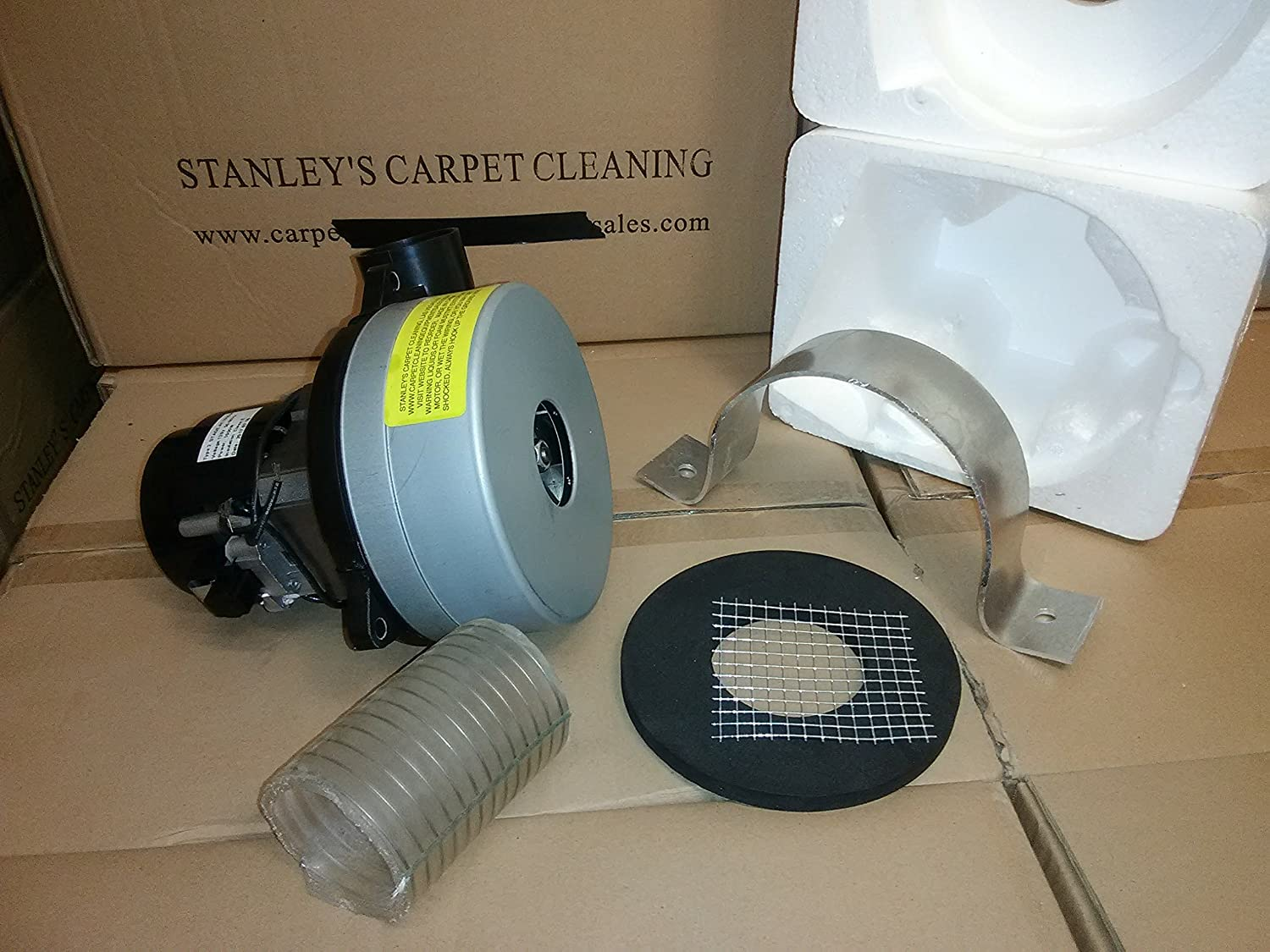 Stanley's Carpet Cleaning Boat Lift Blower Motor hydrohoist- Summerset -Shore Master -galva Foam Boat Lift Replacement Vacuum Blower Motor Complete ametek