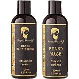 Beard Conditioner Beard Wash Kit (Classic, Shampoo & Conditioner (100 ml / 3.4 oz))