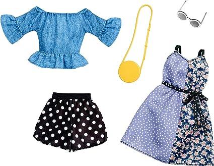 Amazon.es: Mattel Fashion Set Vestiti Fashionistas-Pack de 2 Modas ...