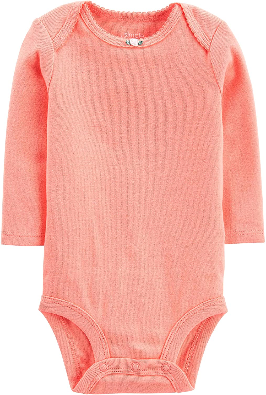 Simple Joys by Carters Baby Girls 5-Pack Long-Sleeve Bodysuit