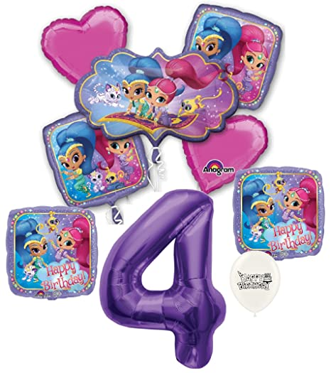 Amazon Purple Number 4th Birthday Shimmer And Shine Party