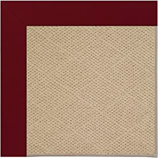 "product image for Capel Rugs Zoe-Cane Wicker Rectangle Machine Tufted Area Rug, 24"" x 36"", Wine"
