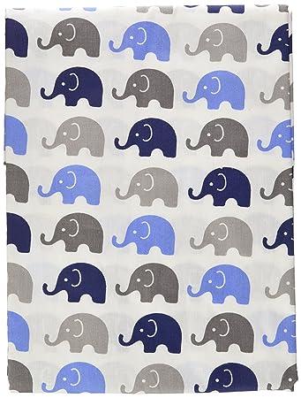 Completely new Amazon.com: Elephants Blue/Grey Mini Elephants Curtain Panel: Baby WT73