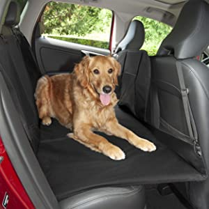 Furhaven Pet - Heavy-Duty Back Seat Cover Platform Bridge Barrier, Universal Front, Back, & Cargo Water-Resistant Dog Seat Cover for Dogs & Cats - Multiple Styles & Colors
