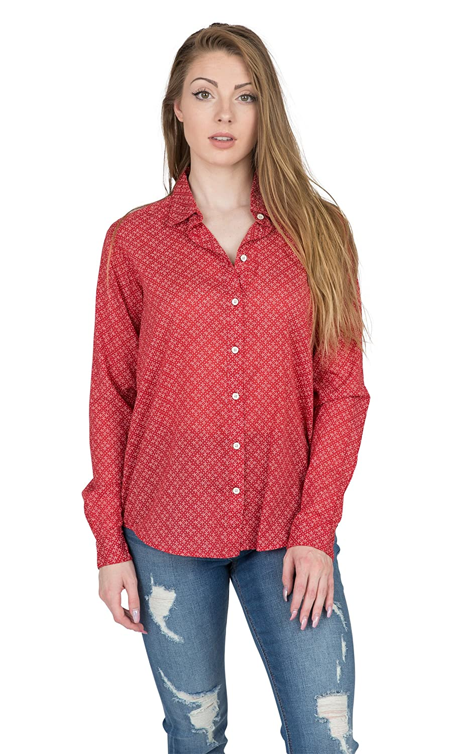 Velvet by Graham /& Spencer Emery Printed Cotton Button-up Shirt