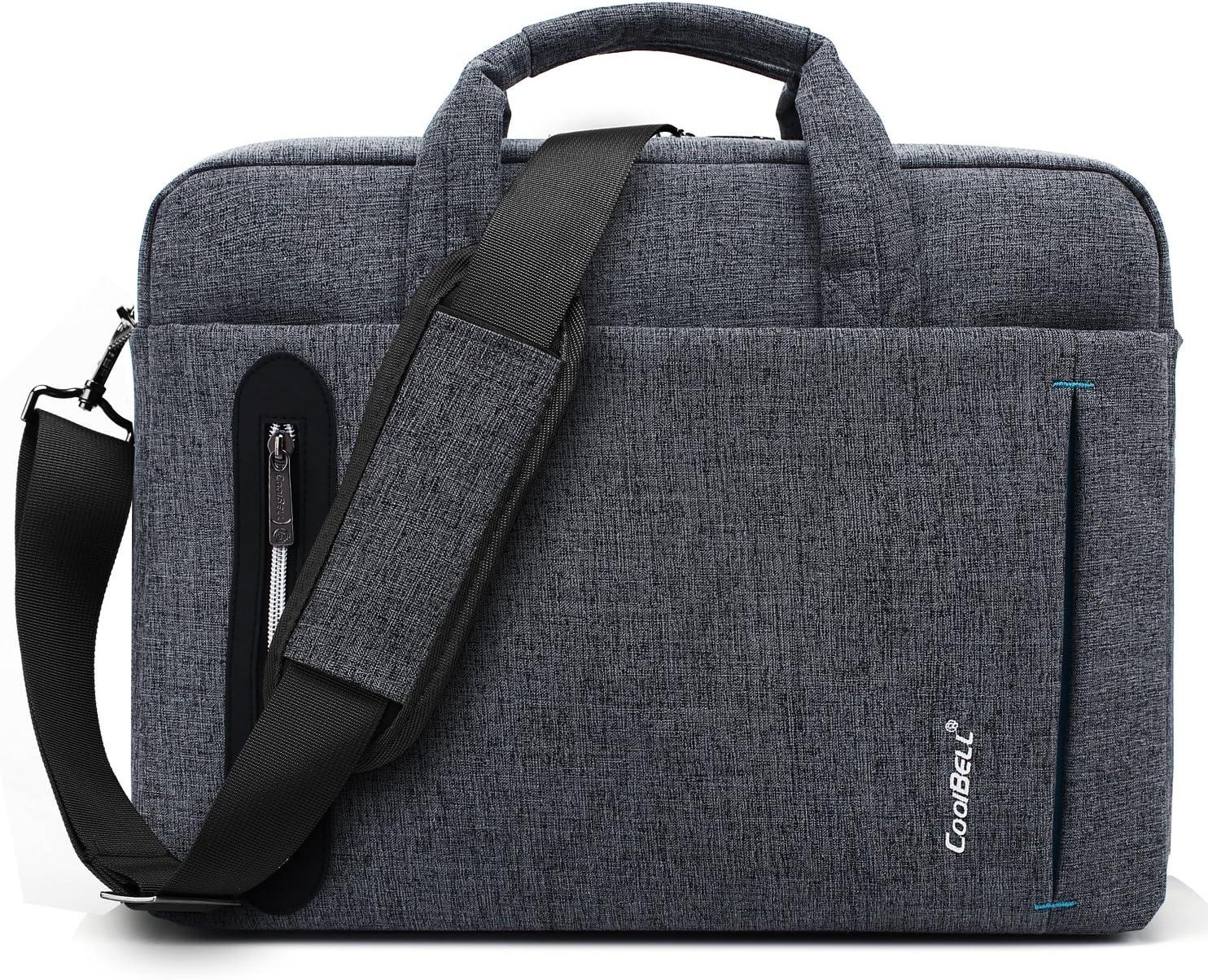 CoolBELL 15.6 inch Laptop Bag Messenger Bag Hand Bag Multi-compartment Briefcase Oxford Nylon Shoulder Bag For Laptop/Ultrabook/HP/Acer/Macbook/Asus/Lenovo/Men/Women (New Grey)