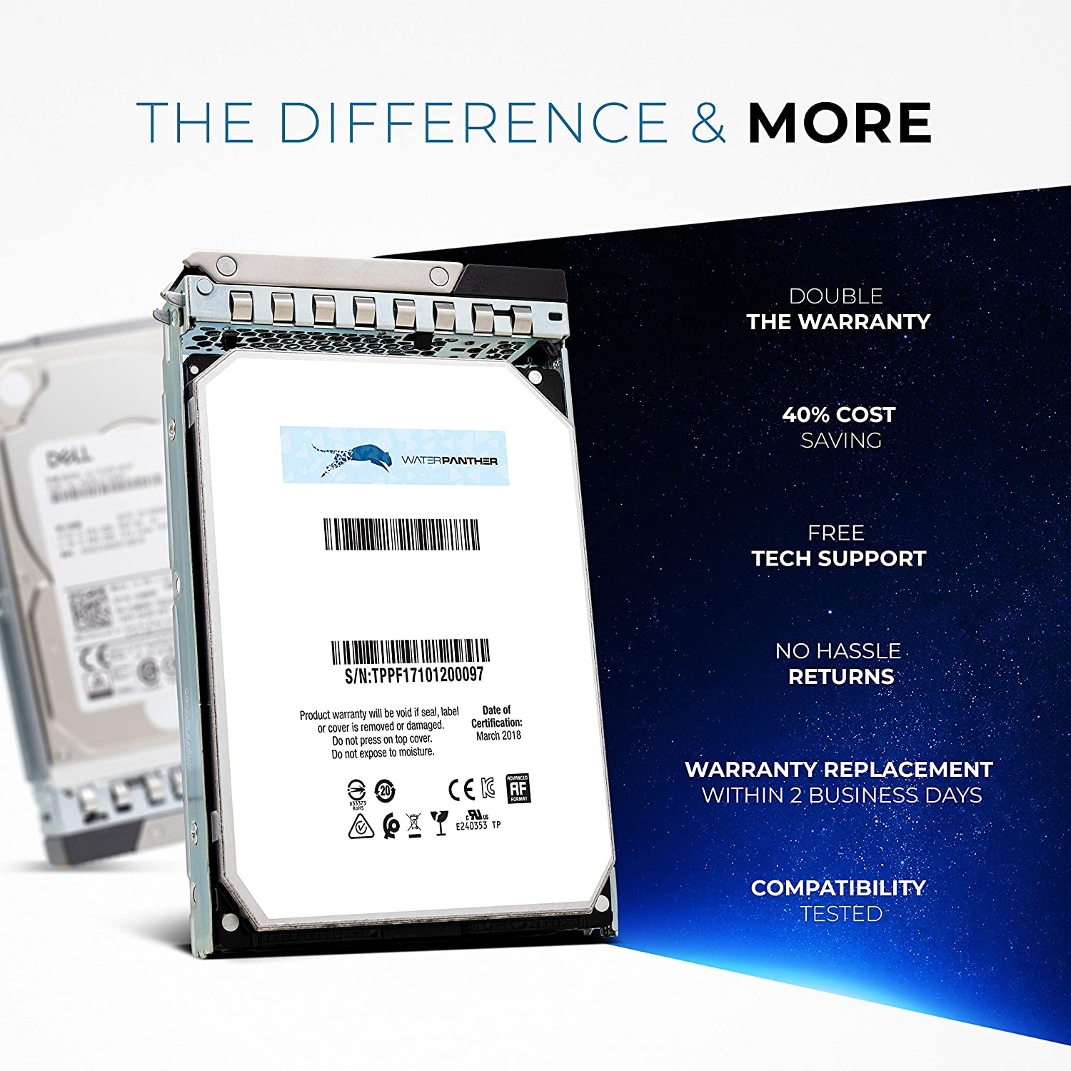 Compatible with R Series T Series 12TB 7200 SATA 3.5 HDD for Dell PowerEdge Servers Enterprise Hard Drive in G14 Tray