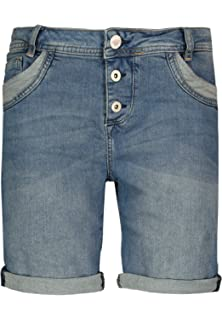 cd560df51e48bb Sublevel Damen Shorts | Blaue Jeans Bermuda mit Destroyed Parts im  Boyfriend-Style