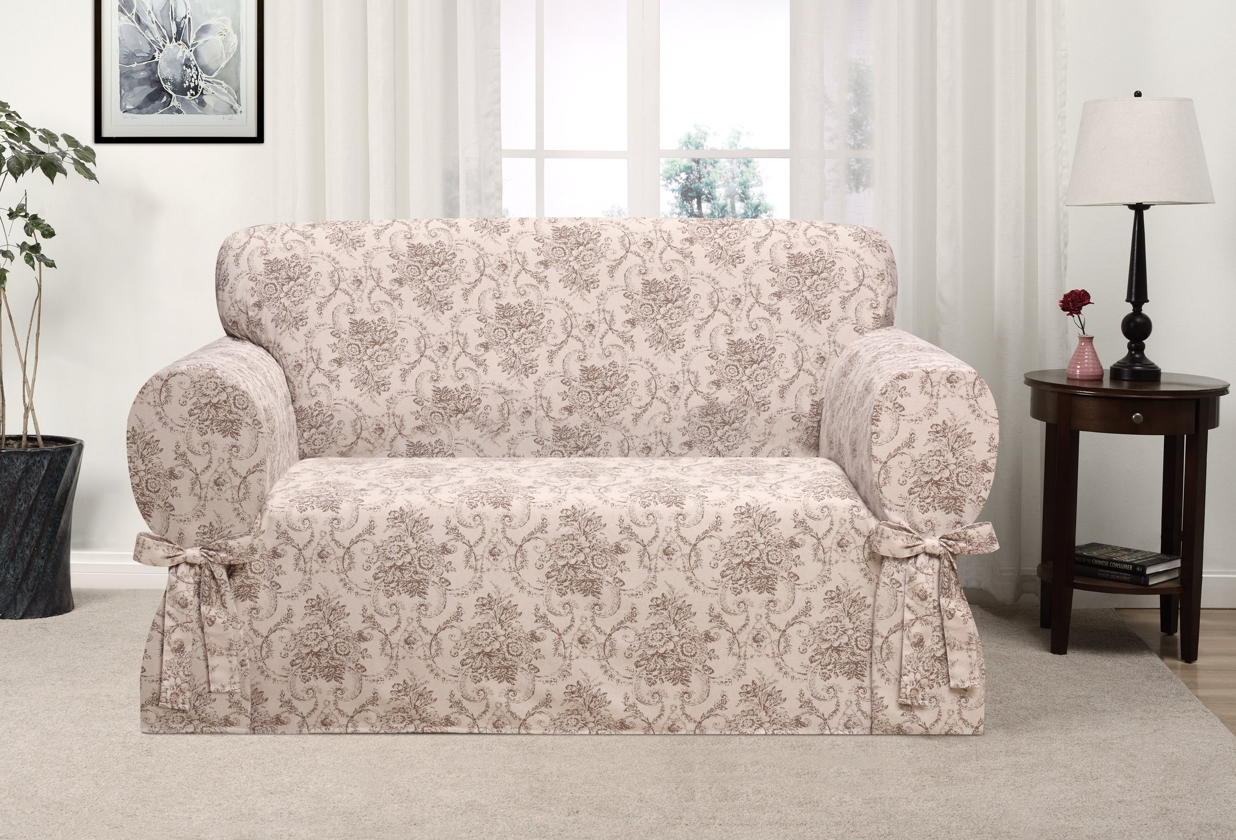 Madison Chateau Slipcover, Loveseat, Taupe
