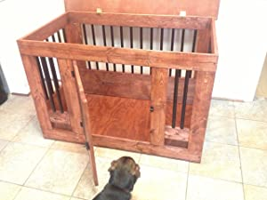 Cre8tivefurniture Dog Crate end Table