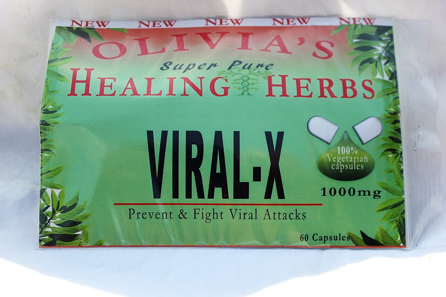Amazon com : Olivia's Healing Herbs Viral-X Package (STD'S, Herpes