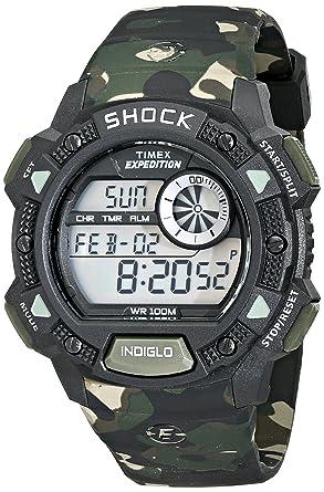 29579c50c Amazon.com: Timex Men's T49976 Expedition Base Shock Green Camo ...