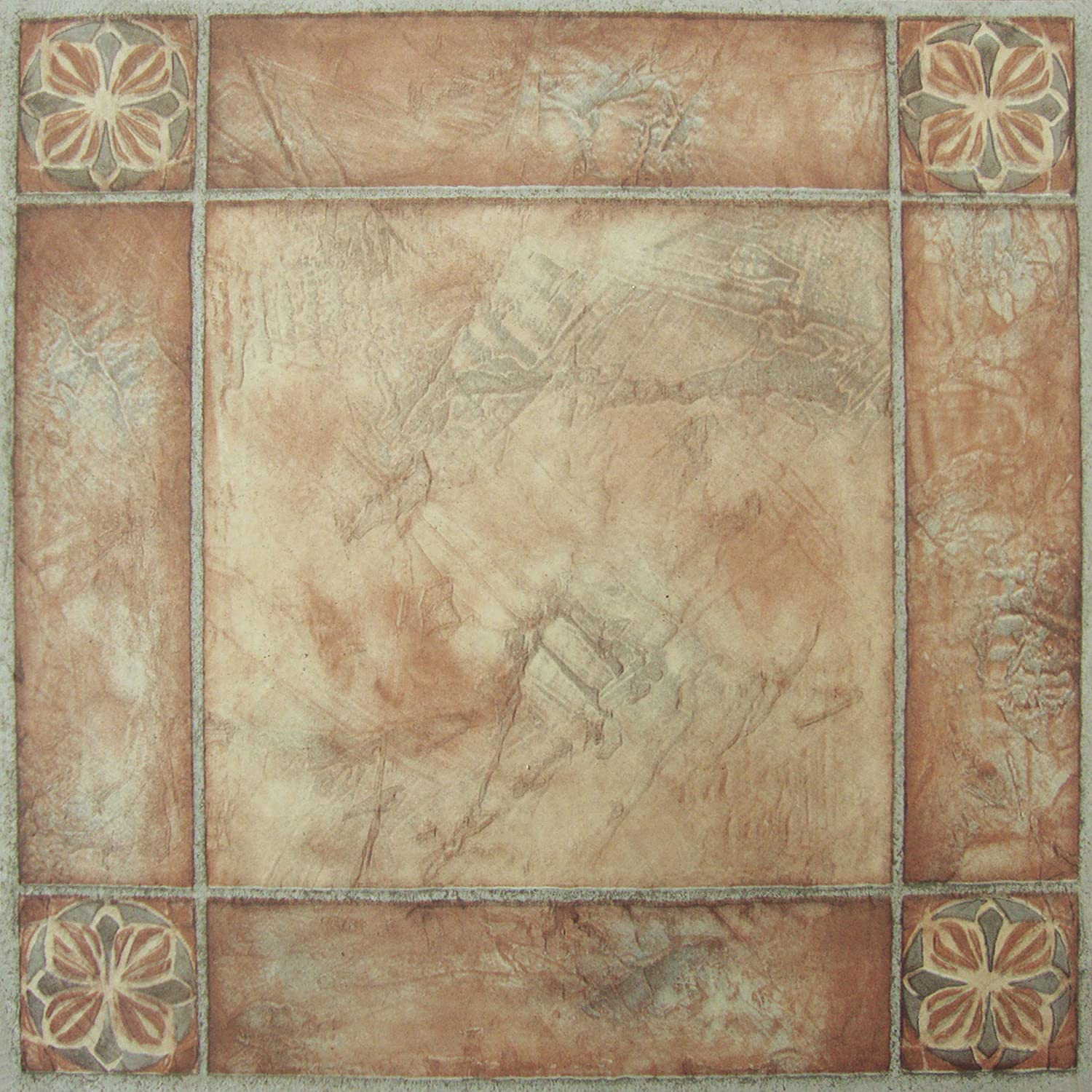 Achim Home Furnishings FTVMA44620 Nexus 12X12 Inch Vinyl Tile, Spanish  Rose, 20 Pack   Vinyl Tile Adhesives   Amazon.com