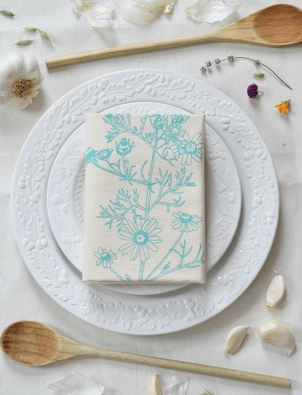 Amazon.com: SALE - Chamomile Flour Sack Towel in Mint Green - Tea ...