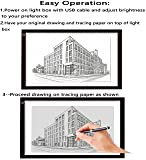 A3 Large Portable LED Light Box Tracer 11.5 x 16 in Dimmable Brightness Thin Artcraft Tracing Light Pad Light Box 5d Diamond Painting Artists Drawing Sketching
