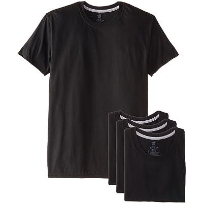 6 Pk Hanes Men/'s White Crew or VNeck Undershirt T-Shirts Cool Comfort breathable