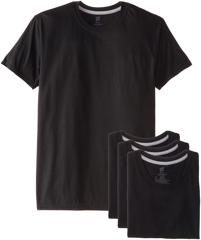 20beb239a644 Hanes Ultimate Men's 4-Pack FreshIQ Crew T-Shirt at Amazon Men's Clothing  store: