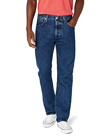 53bec065dfe7d6 Levi's Mens 501 Regular Straight-Leg Denim Jeans Blue Size 30 Length 30