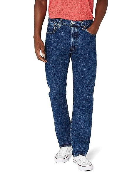 pas mal a92a9 fddc4 Levi's Men's 501 Original Fit Denim Jeans, Blue