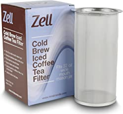 Cold Brew Coffee, Iced Coffee and Iced Tea Maker Infuser   Durable Fine Mesh Stainless Steel Coffee Maker Filter