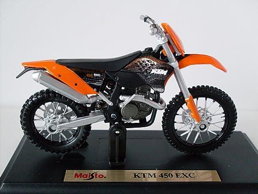 Motorrad Modell 1:18 KTM 450 EXC orange von Maisto
