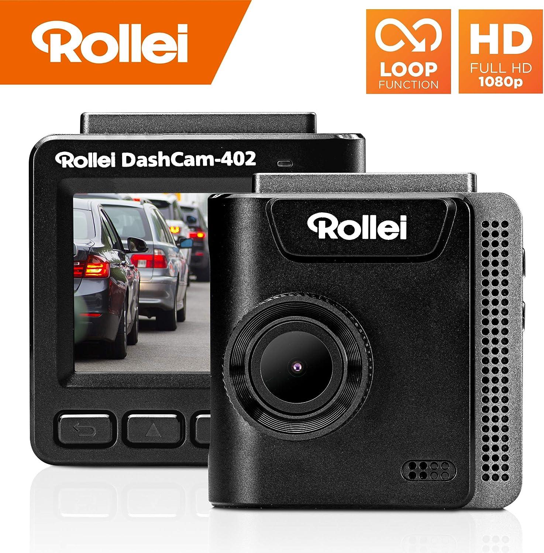 Rollei Dashcam 402 Mit Gps Und G Sensor Rechtskonforme Autokamera Vorne 1080p Full Hd Auto Kamera Zur Überwachung Und Parküberwachung Dash Cam Video Registrator Mit Loop Funktion Navigation