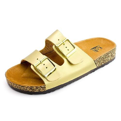 Kali Womens Open Toe Buckle Strap Sandals Adults B01M4NNA01