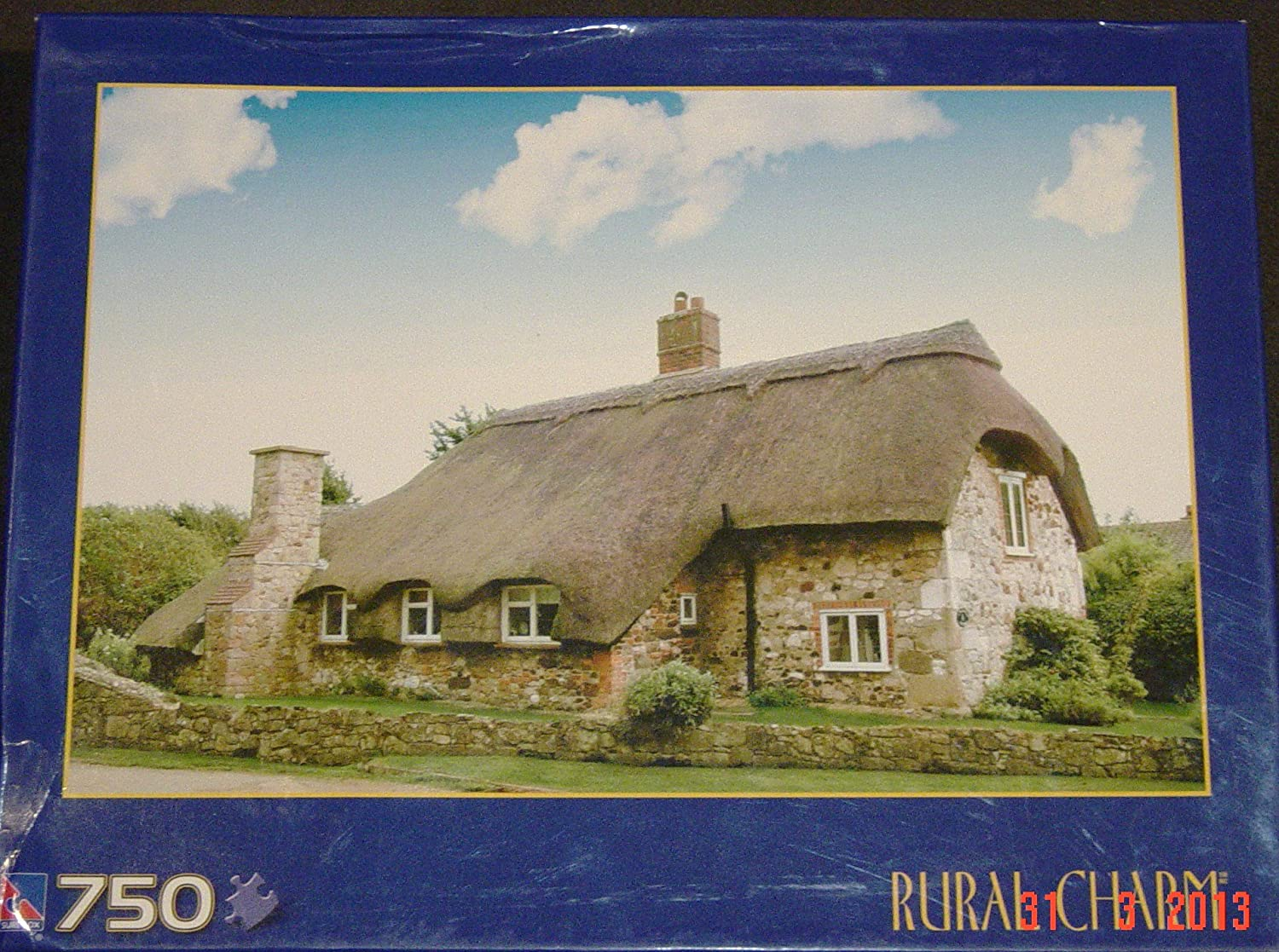 Rural Charm 750 Piece Puzzle -- Thatched Cottage, UK by Rural Charm