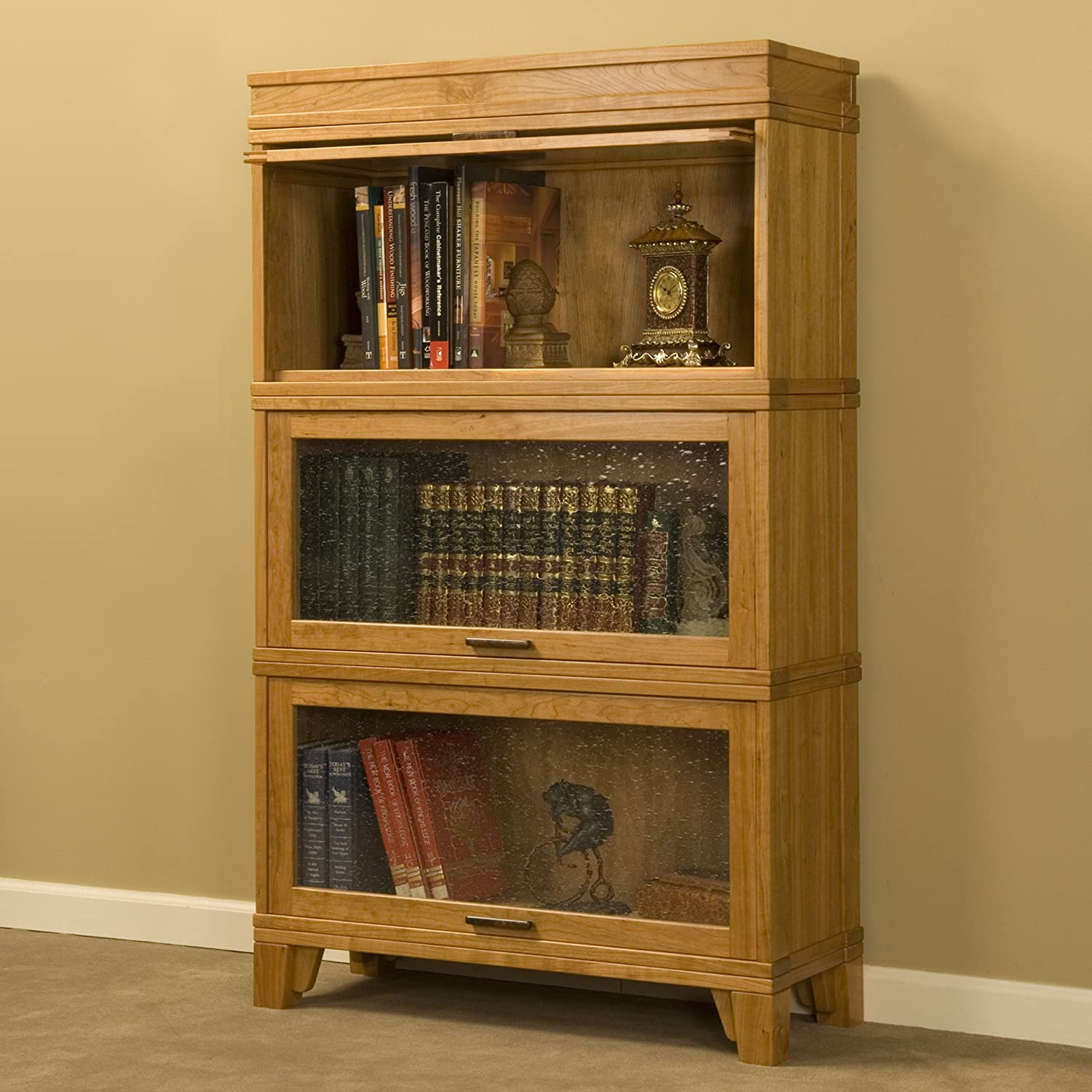 Woodworking Project Paper Plan To Build Barrister Bookcase Glass