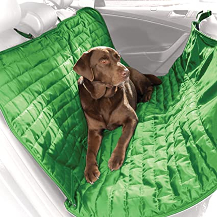 Medium image of kurgo waterproof loft tm  hammock style car seat cover for dogs green