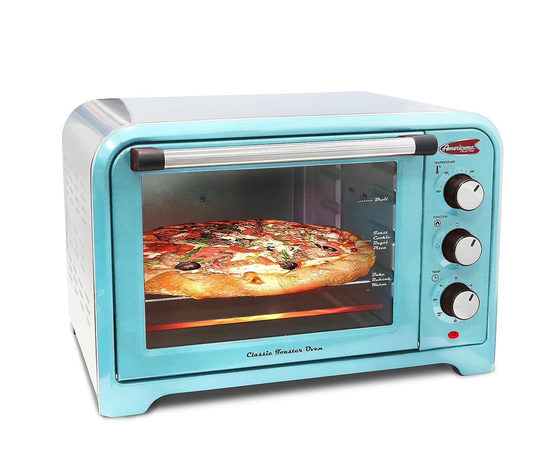 amazon com americana ero 2600bl americana collection retro 6 amazon com americana ero 2600bl americana collection retro 6 slice toaster oven blue kitchen dining