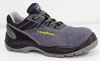 Goodyear G138107C Calzado en Piel Serraje, Gris, 41, Set de 2 Piezas