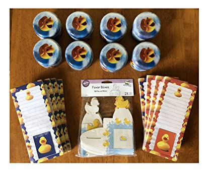 Amazon.com: Rubber Ducky Yellow Duck Baby Shower Boy Girl Party ...