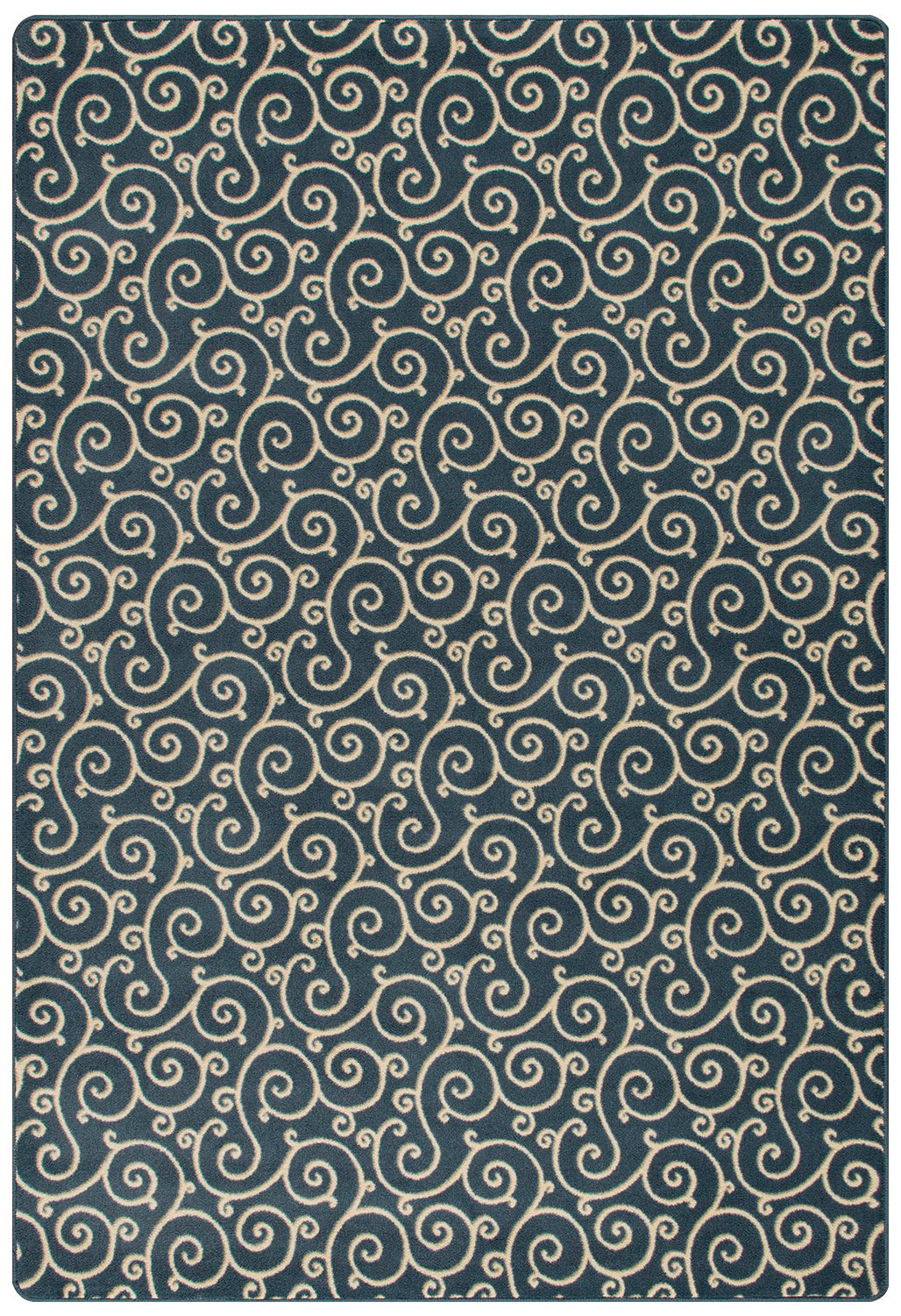 Milliken 4000126468 Imagine Figurative Collection Lyrical Area Rug, 2'8'' x 3'10'', Imperial Blue by Milliken