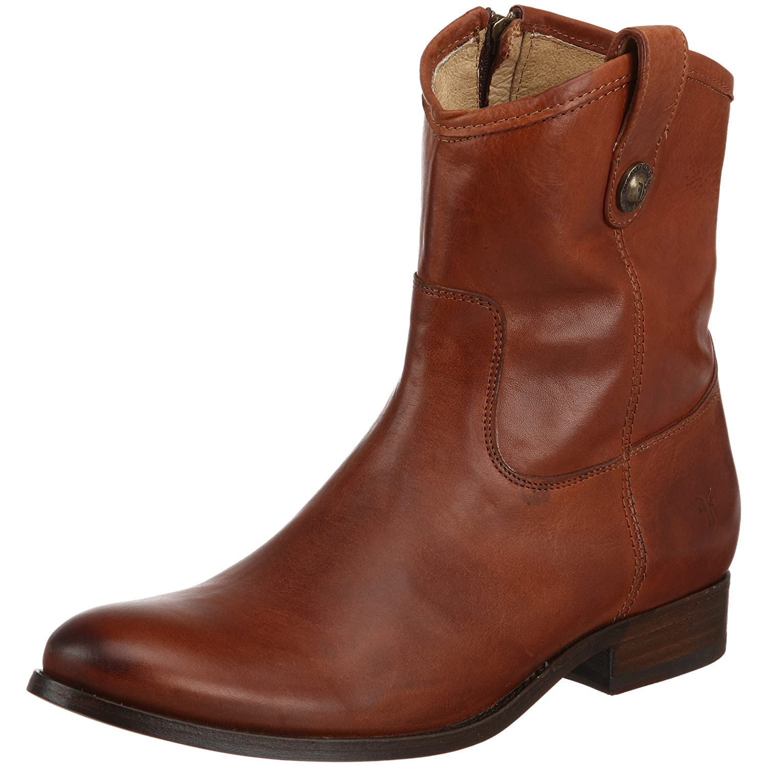 FRYE Women's Melissa Button Short Ankle Boot B003EOAMSY 5.5 B(M) US|Cognac Soft Vintage Leather-77897