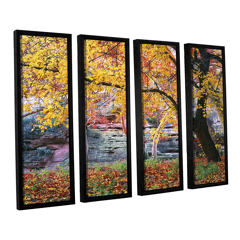 24 by 32 ArtWall Dean Uhlinger 4 Piece Aravaipa Canyon Floater Framed Canvas Set
