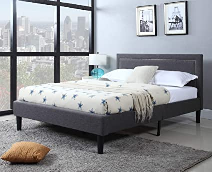 separation shoes ce6ab 6c16f DIVANO ROMA FURNITURE Queen Upholstered Tufted Headboard & Bed Frame - 32