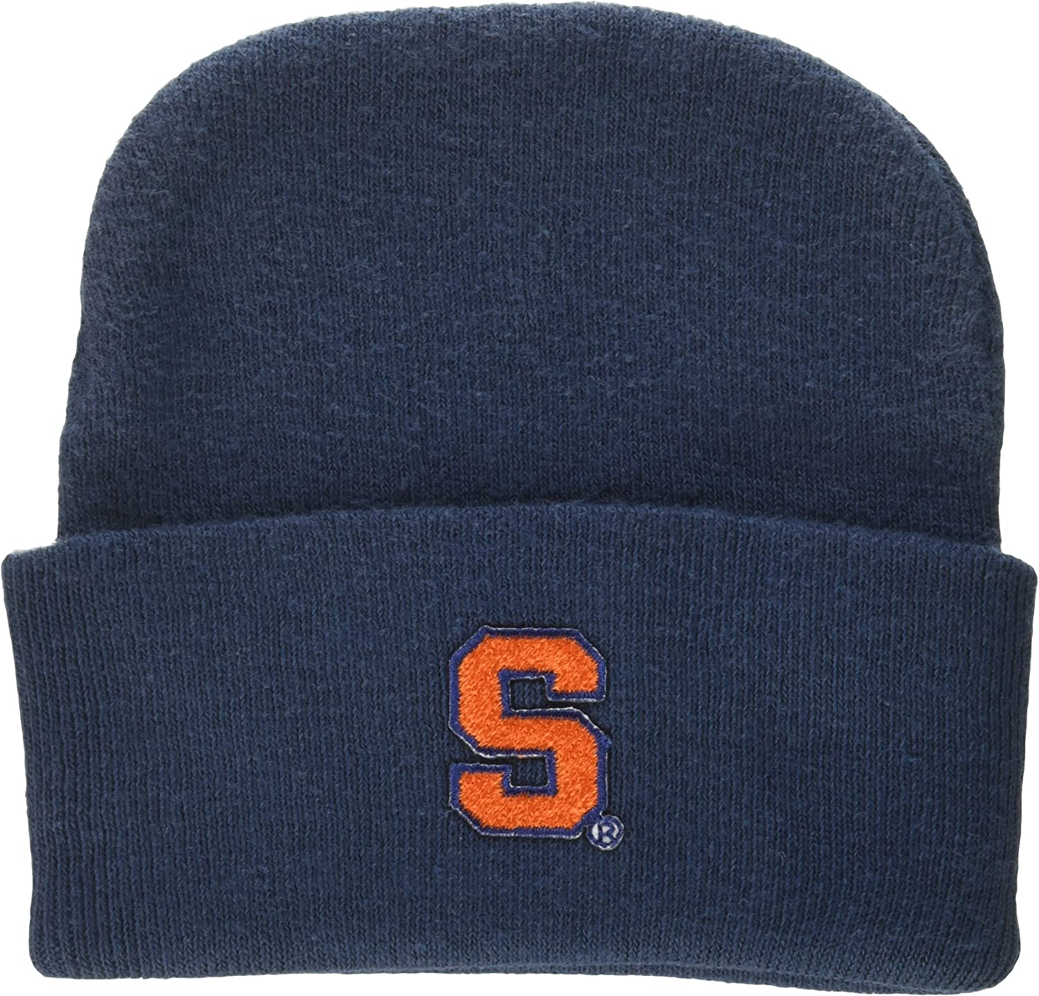 New Born Two Feet Ahead NCAA Syracuse Orange Infant Knit Cap Navy