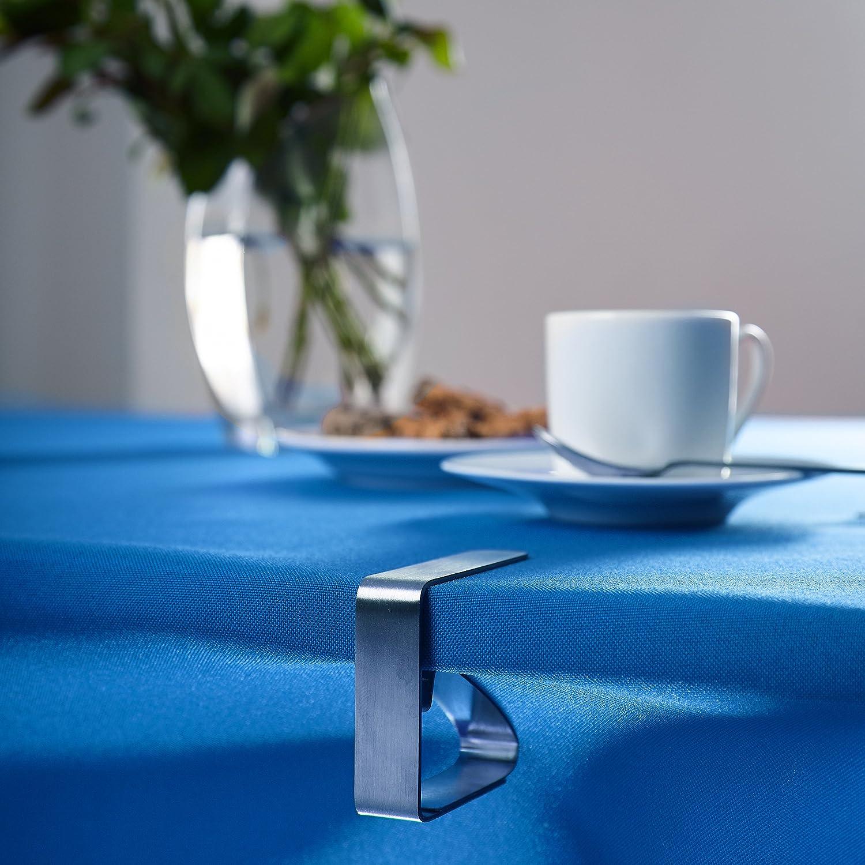 Lumaland Pince /à Nappe 6,3 x 4,2 x 5 cm diff/érents mod/èles de Table. Motif en Smiley 8 pi/èces en Acier Inoxydable