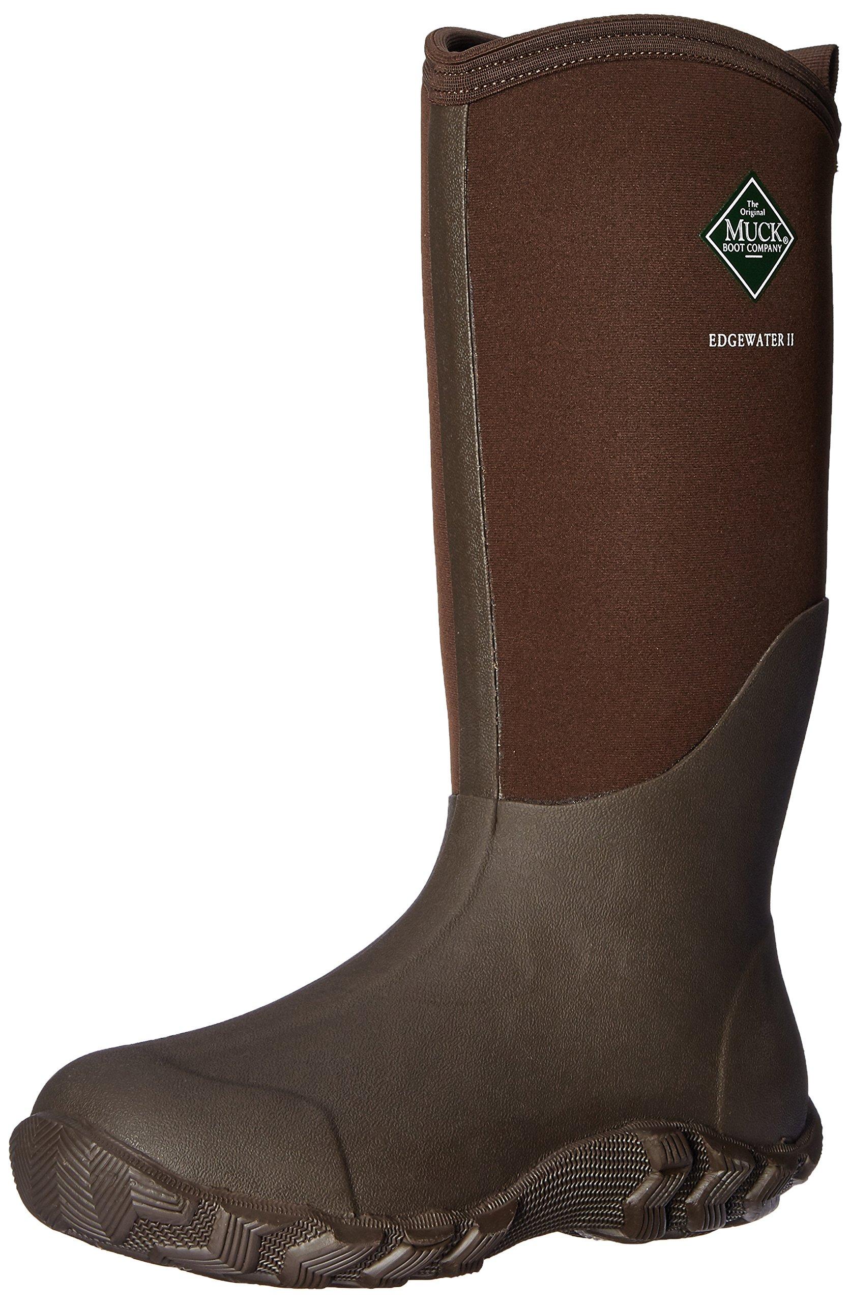 Muck Boot Men's Edgewater II Tall Snow Boot, Chocolate Brown, 10 D(M) US