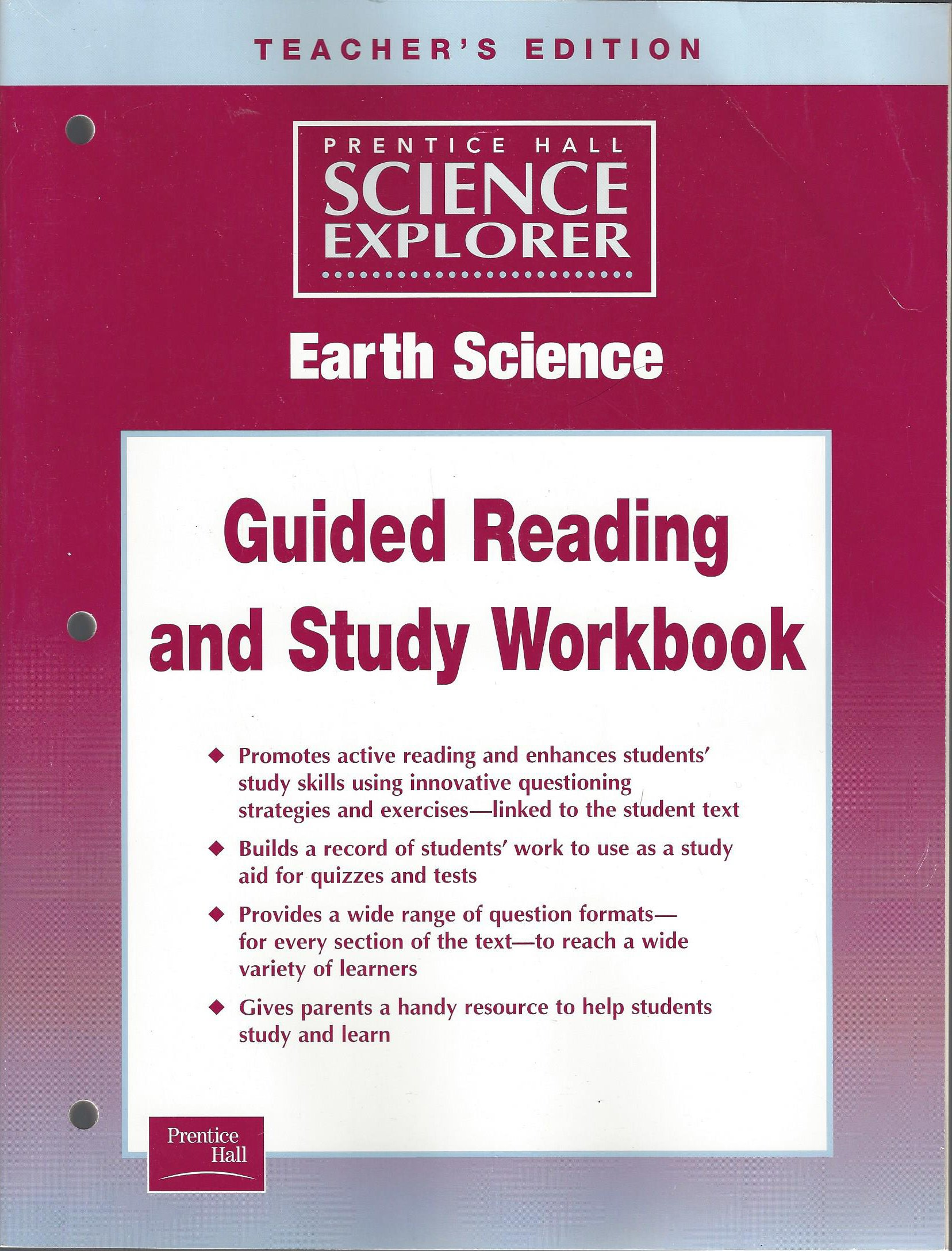 Science Explorer Earth Science, Guided Study Workbook, Teacher's Edition: Prentice  Hall: 9780130440044: Amazon.com: Books