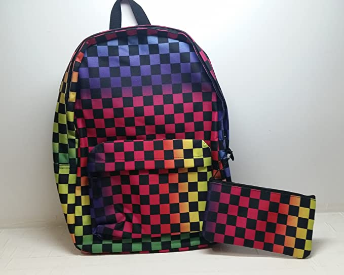 3eaa533037 ... Hot Topic Multi-Colored Backpack wPencil Holder best service f33dc  1303b ...