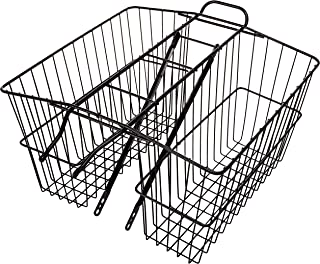 product image for Wald 535 Rear Twin Bicycle Carrier Basket (18 x 7.5 x 12)