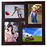 Wens 4-Picture MDF Photo Frame (16 inch x 16 inch, Brown, WS-4019)