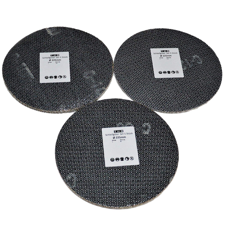 Sanding Grille Diameter 225 mm Velcro 15 Pieces 80 100 120 Sanding Discs for Ceiling Sander Drywall Sander