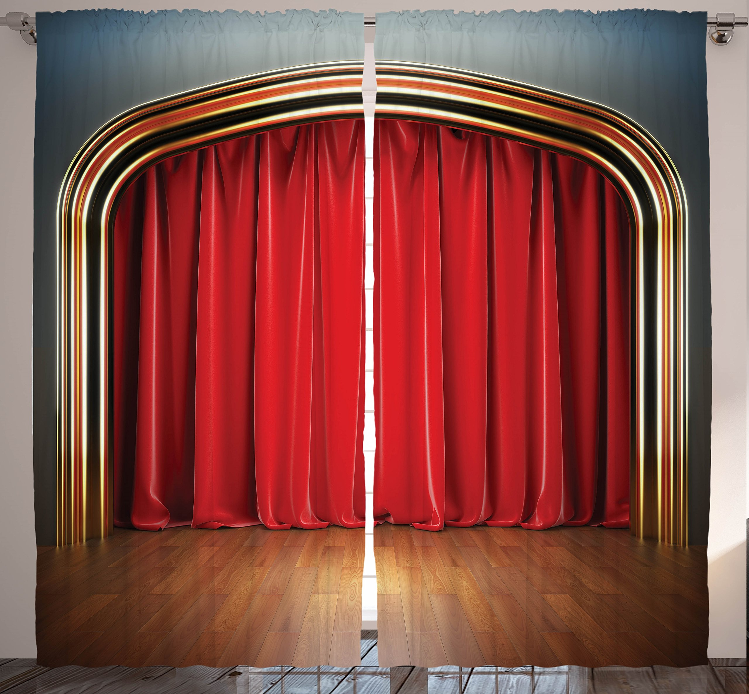 Stage Curtains For Bedroom Drapes Living Room Home Decor Concert Theatre Kids Teen Modern